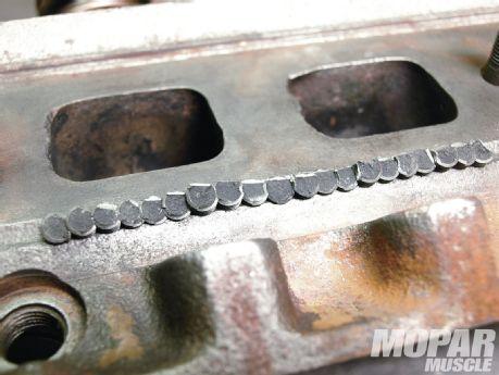 Cast Iron Cylinder Head Repair – Cold Stitch Crack Repair